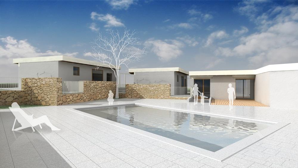Počitniški bungalovi z bazenom