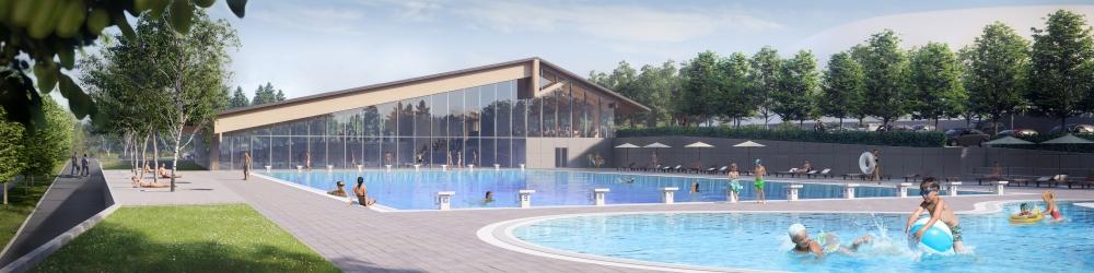 Bazenski kompleks v okviru športno rekreacijskega parka v Češči vasi
